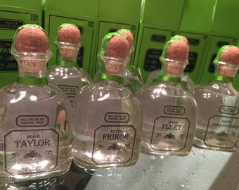 Personalized Patron Bottle Labels for Groomsmen