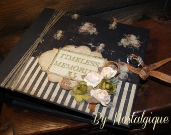 "Wedding, Romantic, Any Occasion Album 9"" x 8"" Time Traveler Mini Album PDF Tutorial"