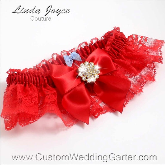 Red Wedding Garters: Items Similar To Red Wedding Garters Bridal Garter Lace