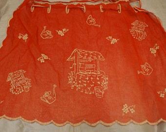 Vintage Red Apron