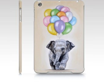 Elephant iPad case , iPad Mini 1,  iPad Air, baby elephant ipad , polycarbon ipad case, designer ipad case, animal iPad hard case