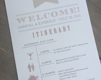 Wedding Itinerary // Elegant and Vintage // Wedding weekend Agenda // Purchase this Deposit Listing to Get Starte