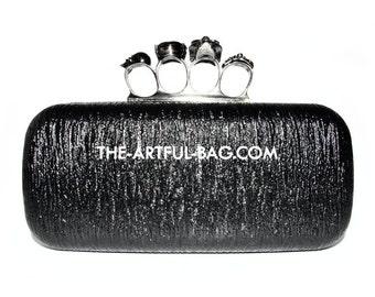 Black Knuckle Clutch Bag From The-Artful-Bag.com