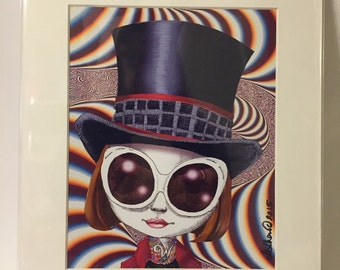 "Johnny Depp as Willie Wonka 11x14"" Art Print by deShan"