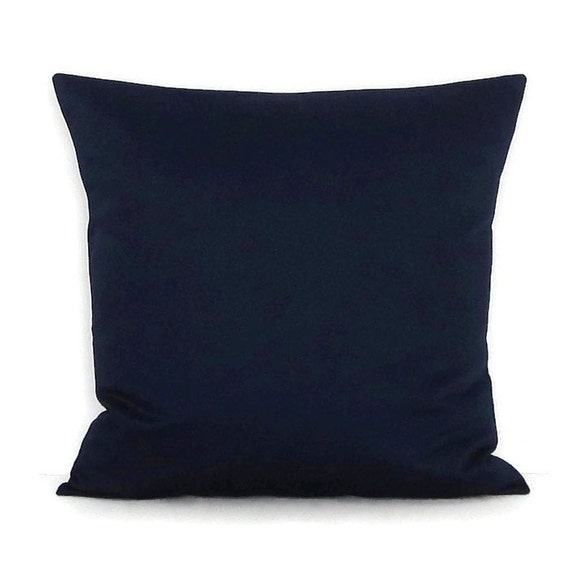 Throw Pillows For Navy Blue Couch : Sale Navy Blue Throw Pillow Cover Indigo Solid Decorative