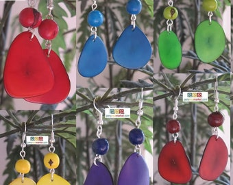 8 pair TAGUA ACAI EARRINGS eco jewelry from Peru