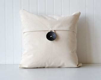 Decorative throw pillow, wooden button pillow, button pillow, home decor, home & living, hostess gift, farmhouse, vintage inspired