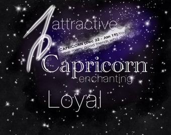 Capricorn Astrology Poster