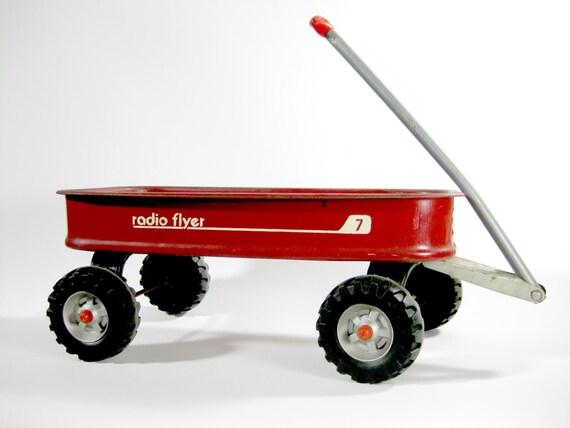 Vintage Metal Radio Flyer Wagon 7 Vintage Red Child S
