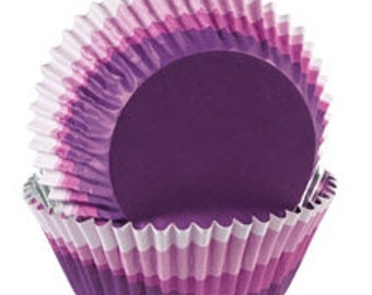 Wilton Purple Color Baking Cups For Cupcake Party Decoration, Purple Muffin Liners, Birthday Cupcake Party