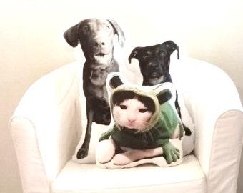 Custom Dog Photo Pillow Extra Large