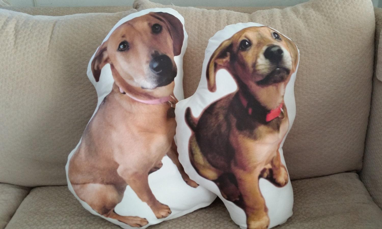 Custom Dog Photo Pillow Large