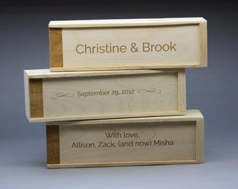 Custom Wine Box Set of 3 Individual Wine Boxes Wedding Ceremony Wine Box Three Engraved Wine Boxes Wine Carriers Wedding Wine Box