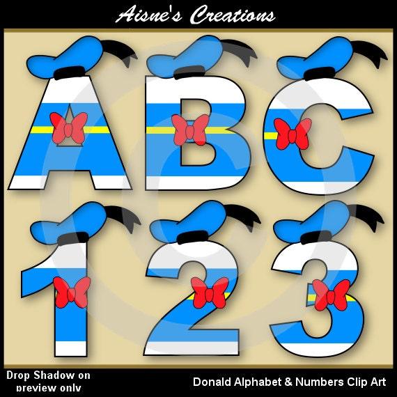 Donald Alphabet Letters Amp Numbers Clip Art Graphics