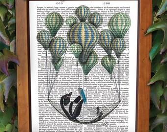Penguin Art - Penguin in Hammock - penguin nursery art penguin picture Penguin Decoration literary art literary print birthday gift for dad