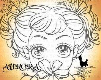 Digital Stamp-Aurora 'Gift' - 300dpi JPEG/ PNG - MAC0174