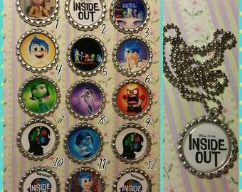 Inside out Bottle cap necklaces