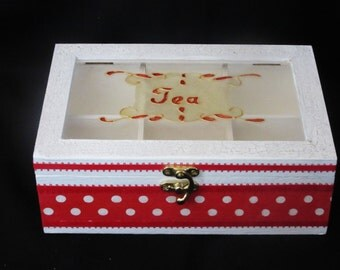 White and red tea box