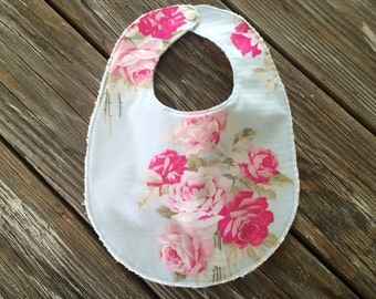 Baby/Toddler Bib ~ Roses//Blue//Nature//Pink//Girly//Vintage//Classic