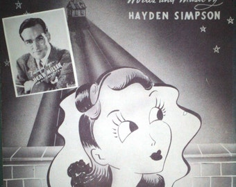 "1943 Sheet Music, ""Saucer Eyes"""