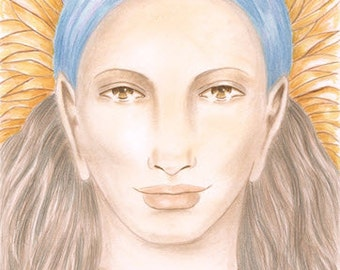"The Guardian beautiful 8X10"" Giclee print, fairy woman"