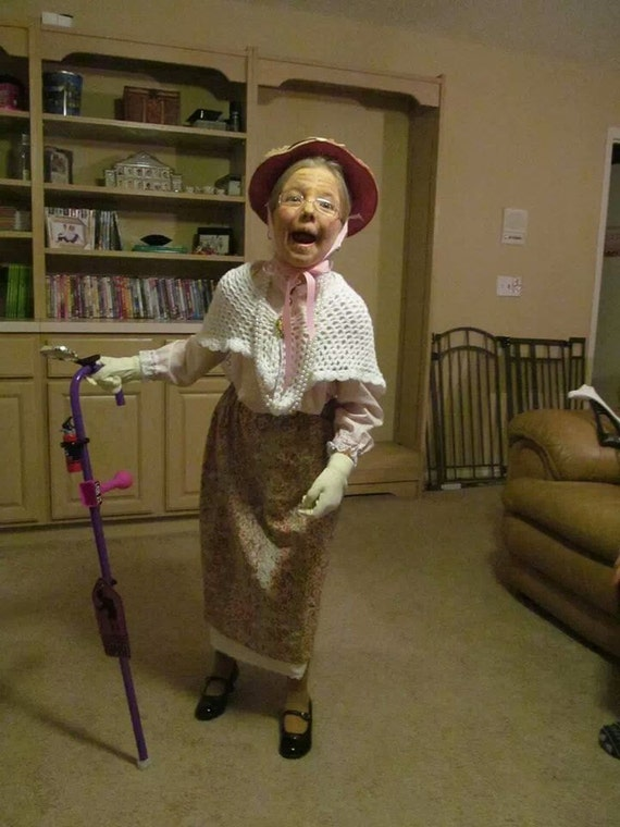 - Little Girl Granny Grandma Old Lady Outfit 100 By ThePolkaDotAttic
