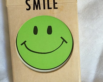 Fabulous 60s green happy face card deck