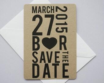 Modern Statement Save The Date // Manila