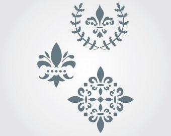 Vintage Fleur De Lis Craft Stencil