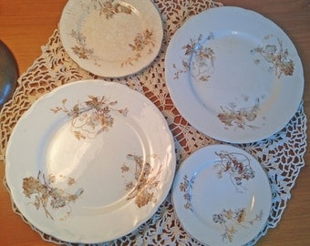 Antique Knowles Taylor Knowles Plates--Set of 4