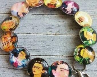 Frida Kahlo Bracelet-12 Glass Domes