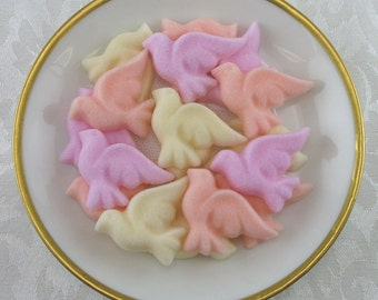 30 Sweetheart Mix Dove shaped sugar cubes for tea party, bridal shower, coffee, tea, wedding, shower, party, baptism, christening