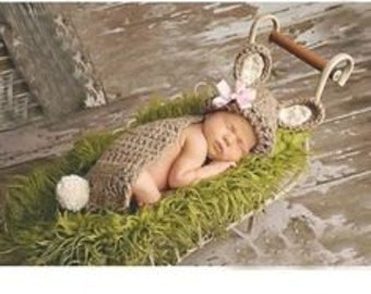 Baby Bunny Costume Photo Prop
