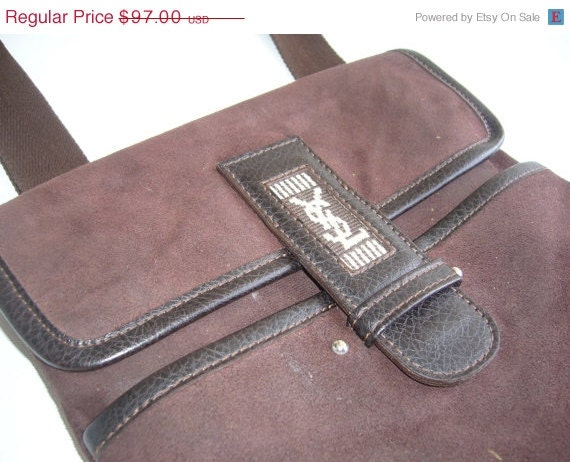 SALE %30 OFF YSL messenger suede in brown by woolwarm on Etsy