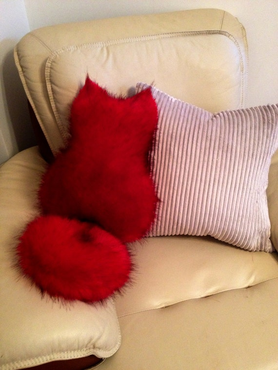 28 red faux fur cushions ruby red faux fur cushion