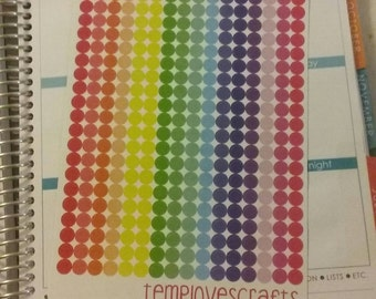 336 1/4 in. Dots for Erin condren life planner, Filofax, kikki k, daytimer or any planner