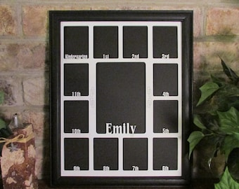 school years picture frame back to school gift custom photo frame personalized picture frame black picture frame any name laser cut
