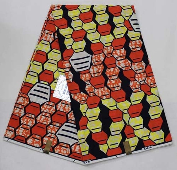 Green and orange fabric for sale by the yard african for Cloth for sale by the yard