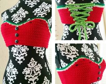 Crochet Watermelon Top