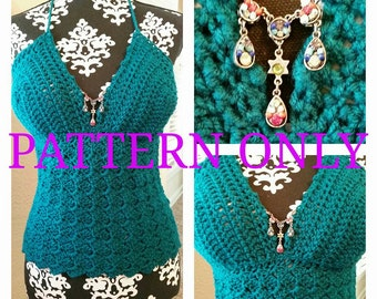 Simply Sweet Halter Top Crochet Pattern