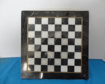 Game Board - CHESS or TIC TaC TOE - Marble Game Board