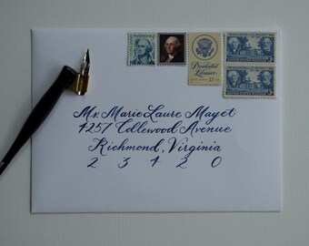 Hand Calligraphy Envelope Addressing: Marie Style