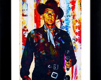 Ronald Reagan art print by Mark Lewis. GE-lep