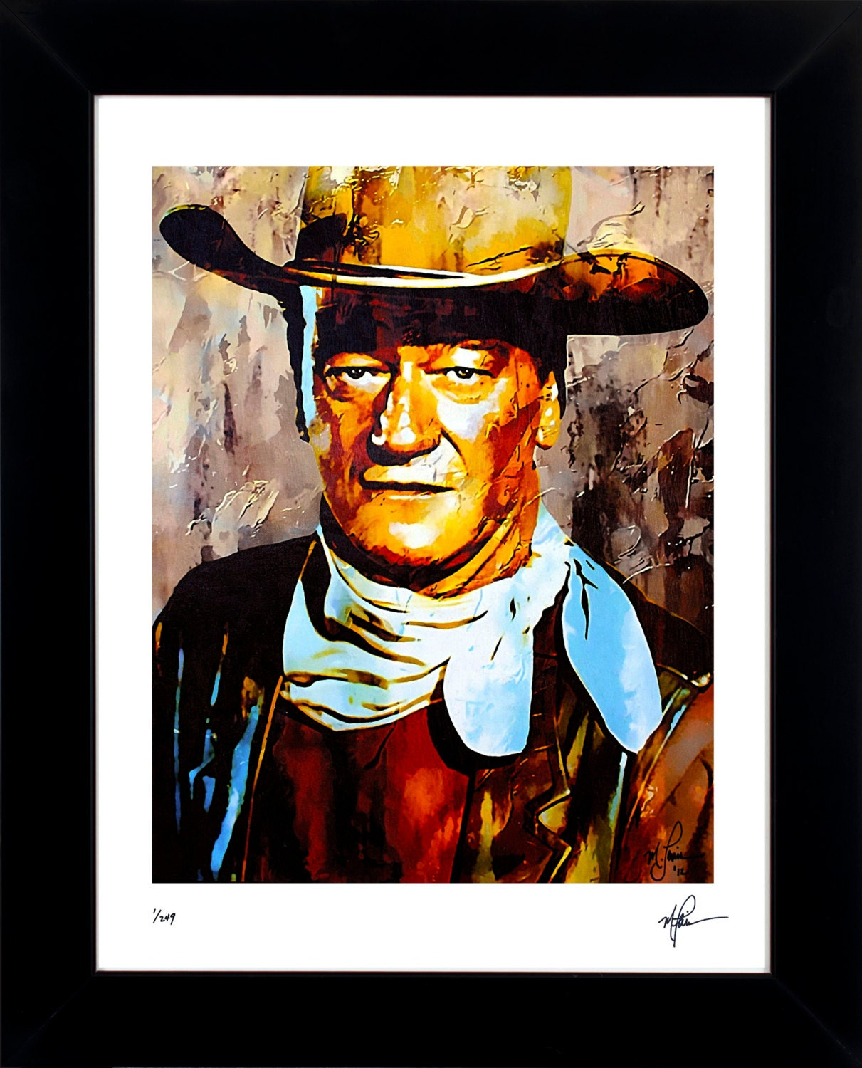 Wall Decor John Lewis : John wayne art prints wall decor framed limited edition