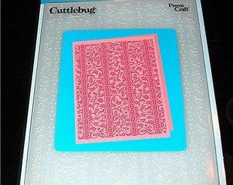"Holly Ribbons 37-1927 Christmas Cuttlebug 5"" x 7"" Embossing Folder"