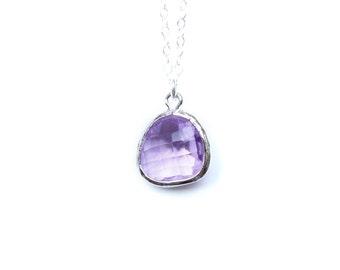 Lavender Necklace / Sterling Silver Bridesmaids Necklace / Lilac Necklace / Lavender Bridesmaids Necklace / Lilac Bridesmaids Jewelry