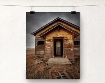 Rustic School House, Fine Art Photography, Alberta Prairies, Giclee