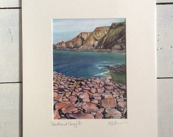 Hartland Quay, limited edition print taken from my original painting.