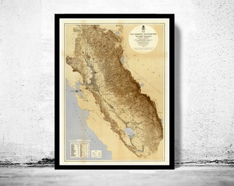 Vintage Map of California 1873