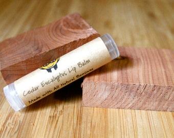 Cedar Eucalyptus Beeswax Lip Balm Tube